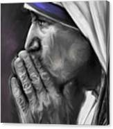 Mother Teresa Of Calcutta Canvas Print