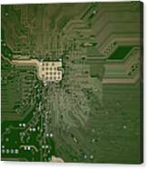 Motherboard Architecture Green Canvas Print