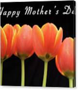 Mothers Day Card 2 Canvas Print