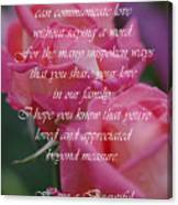 Mother's Day Card 6 Canvas Print