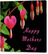 Mothers Day Card 6 Canvas Print