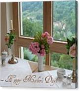 Mother's Day Card - German Cafe Canvas Print