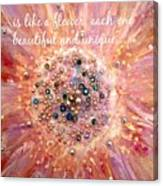 Mothers Day Greeting Card Canvas Print