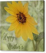 Mother's Day Sunflower Canvas Print