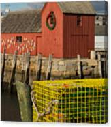 Motif 1 At Christmas, Rockport, Ma Canvas Print