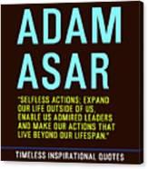 Motivational Quotes - Adam Asar Canvas Print