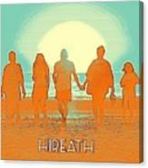 Motivational Travel Poster - Hireath 2 Canvas Print