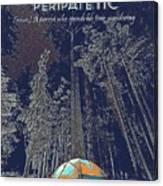Motivational Travel Poster - Peripatetic 2 Canvas Print