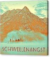 Motivational Travel Poster - Schwellenangst 2 Canvas Print