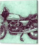 Moto Guzzi Le Mans 3 - Sports Bike - 1976 - Motorcycle Poster - Automotive Art Canvas Print