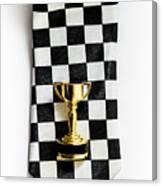 Motor Sport Racing Tie And Trophy Canvas Print