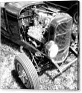 Motor Wheel Bw Canvas Print