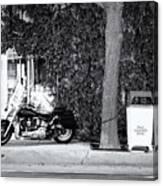 Motorcycle In Big Spring Tx Canvas Print