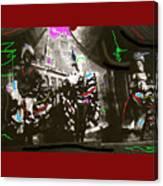 Moulin Rouge Homage Diamond Tooth Gerties Chorus Line Dawson City Yukon Territory Canada 1977-2008 Canvas Print