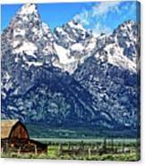 Moulton Barn At Mormon Row Inside Grand Teton National Park Canvas Print