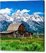 Moulton Barn Impressions Canvas Print