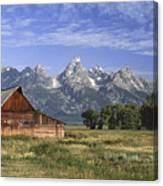 Moulton Barn In The Tetons Canvas Print