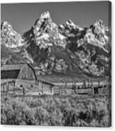 Moulton Cabin - Grand Tetons II Canvas Print
