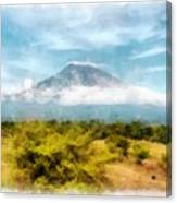 Mount Agung On The Island Paradise Of Bali Canvas Print