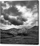 Mount Bierstadt Black And White Canvas Print