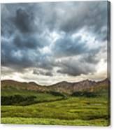 Mount Bierstadt Cloudy Evening 2x1 Canvas Print