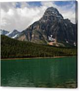 Mount Chephren From Waterfowl Lake - Banff National Park Canvas Print