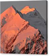 Mount Cook Range On South Island In New Zealand Canvas Print