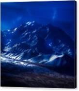 Mount Denali Moonlight Alaska Canvas Print