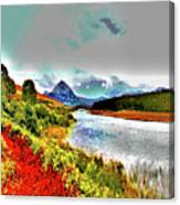 Mount Errigal, Donegal, Ireland, Poster Effect 1a Canvas Print