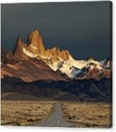Mount Fitz Roy At Sunrise, Patagonia, Argentina Canvas Print