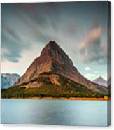 Mount Grinnell In Glacier Np Canvas Print