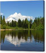 Mount Hood By Mirror Lake Canvas Print