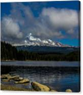 Mount Hood From Across Lake Trillium Canvas Print
