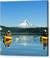 Mount Hood Kayakers Canvas Print