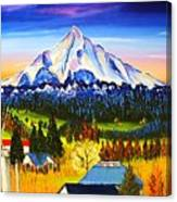 Mount Hood River Valley #1. Canvas Print