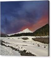 Mount Hood Winter Wonderland Canvas Print