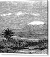 Mount Kilimanjaro, 1884 Canvas Print