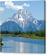 Mount Moran At Oxbow Bend Canvas Print