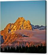 Mount Moran Bathed In Sun Canvas Print