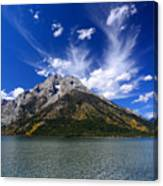 Mount Moran From Leigh Lake Canvas Print