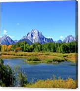 Mount Moran, Grand Tetons National Park, Wyoming  Canvas Print