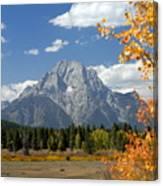 Mount Moran In Autumn Canvas Print