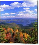 Mount Morgan Squam Lake Foliage Canvas Print