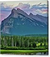 Mount Norquay At Dusk Canvas Print