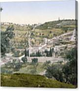 Mount Of Olives, C1900 Canvas Print