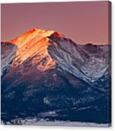 Mount Princeton Moonset At Sunrise Canvas Print
