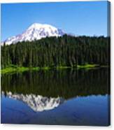 Mount Rainer Reflecting Into Reflection Lake Canvas Print