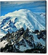 Early Snow - Mount Rainier  Canvas Print