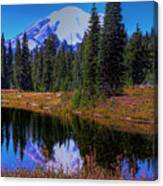 Mount Rainier And Tipsoo Lake Canvas Print