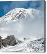 Mount Rainier Behind Clouds 3 Canvas Print